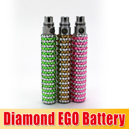 Wholesale Ego Battery Bling - Christmas Gift Bling diamond ego battery Colorful e Cigarette battery Electronic Cigarette diamond battery with high quality waitingyou