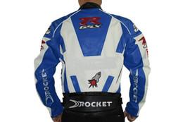 Wholesale Pu Leather Jacket Xxl - 2015 New Fashion PU leather Motorcycle riding clothing jacket motorcross motorcycle locomotive jackets Motorbike Jacket Size M L XL XXL