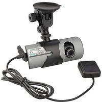 "Wholesale Dash Camera Gps Hd - Car DVR X3000 GPS Dash Dual Cameras Lens Full HD 1080P 3D G-Sensor 2.7"" Blackbox 140 Degree Wide Angle"