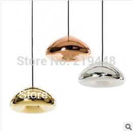 Gold Switches Canada - Tom Dixon Void Light Copper Brass, Gold, Silver Bowl Glass Pendant Light Lamp Diameter 15cm High 7cm