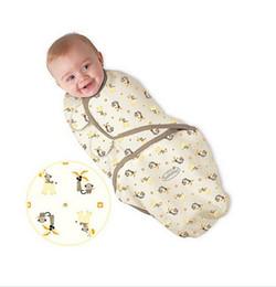 Venta caliente del verano swaddleme Sacos de dormir del bebé del sueño del bebé abrigos Bebé del bebé que envuelve el sueño del bolso Bolsas del abrigo del algodón infantil Melee
