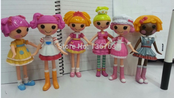 OP-2014 New MGA mini 13CM Lalaloopsy Doll with Articulated Head, Arms & Legs girls classic toys Brinquedos 6pcs/lot