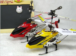 Wholesale Infrared Helicopter - Syma S107G RC Helicopter 3 Channel Infrared 3.5CH With Gyro Alloy Fuselage USB 3D Function Red Yellow Factory Price