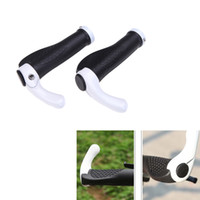 Wholesale Ergonomic Bike Grip - 1Pair Rubber & Aluminum Mountain Road MTB Ergon Bar End Cycling Handlebar Grips Bike Bicycle Ergonomic Grips 5 Colors H11141