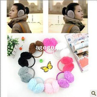 Wholesale Wholesale Winter Earmuffs - factory children Thermal plush earmuffs autumn and winter thermal chromophous Earmuffs cover earcap Adult children and earmuffs