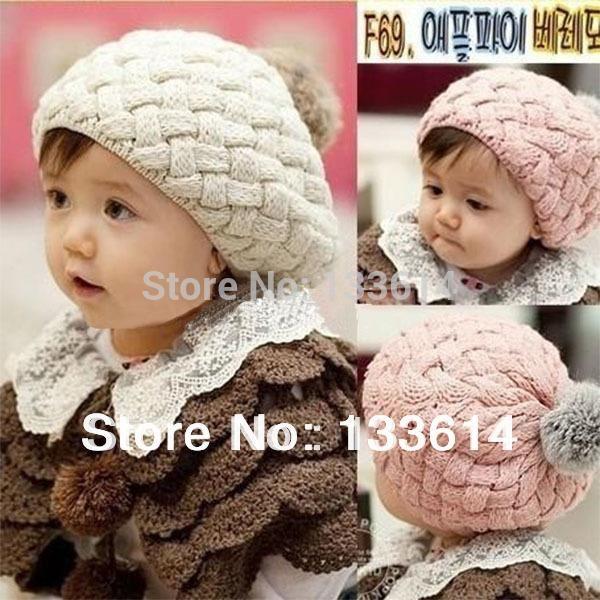 Niños niñas bebé hecho a mano sombrero ganchillo tejer boina sombreros gorras lindo invierno gorro FreeDrop envío