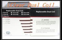 itaste 134 großhandel-Heiße verkaufende Spulen iClear 16 30 30B iclear 30S Clearomizer Doppelspulenkopf 1.5ohm 1.8ohm 2.1ohm für itaste 134 mvp 2.0
