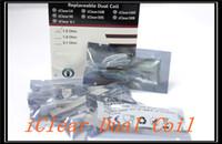 itaste 134 großhandel-Neue Ankunft iClear 16 30 30B 30S Clearomizer Doppelspulenkopf 1,5 1,8 2,1 Ohm für itaste 134 mvp 2,0