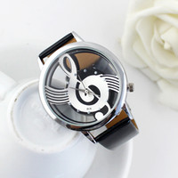 Wholesale Trendy Watches For Women - New Trendy Fashion Designer For Women Black White PU Leather Wristband Analog Quartz Wrist Watch