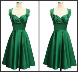 Wholesale Sweetheart Style Evening Dress - Gorgeous 2017 style emerald green knee-length cocktail or homecoming free shipping prom & evening dress formal long vestidos de noiva