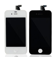 ingrosso digitalizzatore dello schermo lcd iphone 4s-DHL spedizione gratuita per parte anteriore Retina LCD Display Touch Screen Digitizer parte di ricambio per iphone 4 / 4S nero / bianco 10pcs