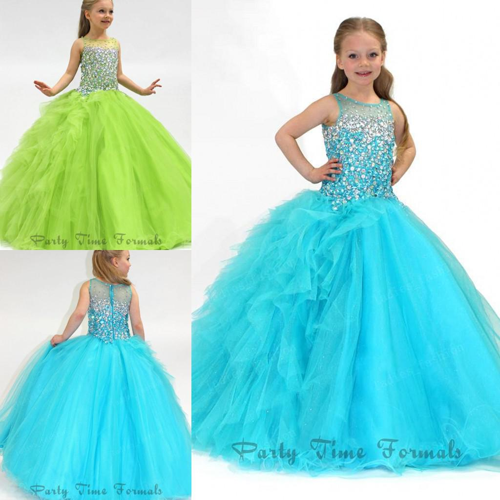 Exquisite Noble Ball Gown Pageant Dresses Long Beads Crystals ...