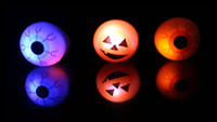 Nouveaux jouets led de Halloween Eye Barre à anneaux à doigts DJ Rave Toys Light Up Soft Rubber Clinking Ring brillant