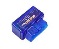 elm327 android wifi al por mayor-Azul Super MINI ELM327 OBD2 herramienta de diagnóstico del coche OBD ELM 327 interfaz de escáner WIFI Soporte IOS Android Phone System