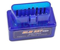 adaptateur obd mitsubishi achat en gros de-UPER mini-orme 327 bluetooth V2.1 elm327 obd ii lecteur de code Car Diagnostic-Tool Scanner Elm-327 OBDII Adaptateur