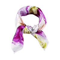 Wholesale Trendy Apparel - Colorful Bohemian Print Square Scarves For Women New Trendy Summer Designer Apparel Accessories