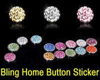 Wholesale Iphone Home Button Stickers Crystal - Crystal Bling Home Button Sticker Skin with Retail Packaging for iPhone 6 6S Plus 6+ 5S 5C iPad Air 4 3 Mini