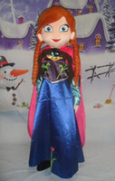 Wholesale Ice Mascot - New Hot sale!! New Special Anna Frozen Mascot Costume Elsa Olaf Figure Ice Character cartoon Fancy Dress