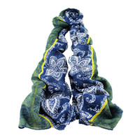 Wholesale New Style Design For Scarves - New Trendy Fashion Traditional Design Bohemia Style Wide 3 Color Patchwork Scarf For Women Charming Scarves Silk Scarves Shawl