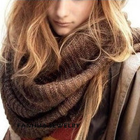 Wholesale Rings Prices - New Coffee and Black Color Warm Winter Scarves for Women Party Wholesale Factory Price