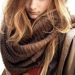 Wholesale Plain Black Scarf - New Coffee and Black Color Warm Winter Scarves for Women Party Wholesale Factory Price
