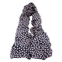 Wholesale New Trendy Fashion Chiffon Heart Decoration Novelty Scarves Wraps For Women Charming Scarves