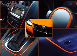 Wholesale Decorative Thread Sticker - car styling 5 meters Decorative thread sticker,indoor ,steering wheel Car Steering Wheel,accessory,Focus,K2