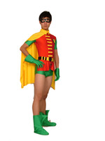 Wholesale Robin One Piece Cosplay - Robin Jason Todd Version Spandex One Piece Superhero Costume Cosplay Outfit