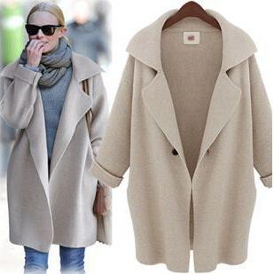 Best Quality 2016 New Loose Long Coat Vintage Fashion Women Winter ...