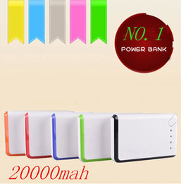 Wholesale China Battery For Phones - Wholesale - CHINA factory - 20000mAh Power Bank External Battery Backup USB Portable Cell Phone Chargers For Mobile phone FREE UPS