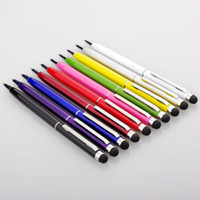 apfel-handy-stift großhandel-5,31 zoll 2 in 1 Muti fuction Kapazitiver Touch Screen Schreibstift und Kugelschreiber für alle Smart CellPhone Tablet PC 1400pcs / lot