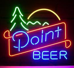 enseignes de bière pour bars Promotion NOUVEAU POINT BEER REAL GLASS NEON LIGHT BEER LAGER BAR SIGN