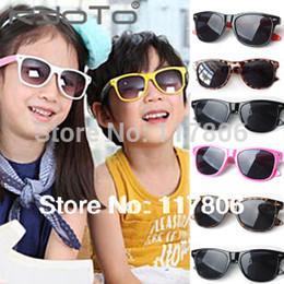 Wholesale Childrens Outdoor - Free Shipping Fashion Kids Sunglasses 1pc Childrens Sun Glasses Anti-uv Baby Sun-shading Eyeglasses Outdoor Sunglass GL14