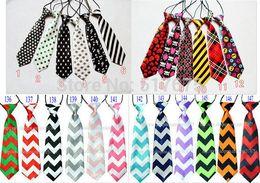 Wholesale Wholesale Girls Neck Ties - free shipping baby kid children ties neck tie ties Boys Girls tie 20pcs lot silk print neckties Colors can't choose