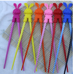 Wholesale Connected Chopsticks - Rabbit cute cartoon Connected Chopsticks,children chopsticks and foreigners learning chopsticks,mix designs and colors