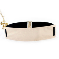 Wholesale Fashion Design Sexy Gold Color Alloy Metal Elastic Belts For Women