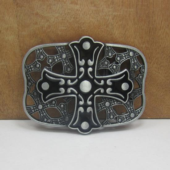 BuckleHome cross belt buckle with pewter plating FP-02240-1 free shipping