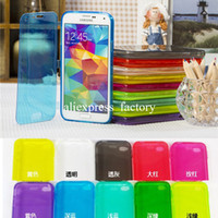 Wholesale Iphone 5c Slim Rubber Case - Slim Transparent Clear Soft Silicone TPU Rubber Case Flip Cover Skin with Dust plug For iPhone 5 5S 5C 4 4S Samsung Galaxy S5 10pcs lot