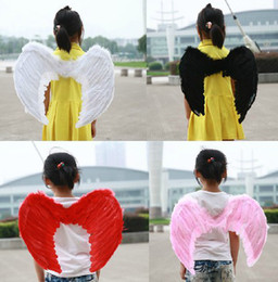 Wholesale Infant Fairy - 2014 New Halloween Supplier Angel Devil Baby Infant Kid Child Feather Wings Fairy Costume Props Halloween Party Kids Clothing J1326