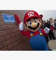mario trajes mascotes venda por atacado-Brand New Custom Made Super Mario Bros Traje Da Mascote Frete Grátis