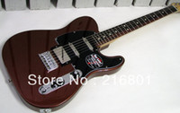 Wholesale Red Guitar Left - OP-Blacktop Baritone Tele Classic Copper best Guitar free shipping