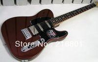 guitarra elétrica diy sólido venda por atacado-OP-Blacktop Baritone Tele Classic Copper best Guitar free shipping