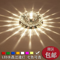 Wholesale 3years warranty w LED aisle lights crystal ceiling Lights porch lights bar corridor lights foyer lights downlight spotlight