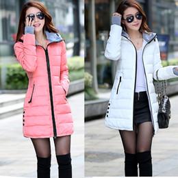Parkas Women S Outerwear Canada - Female medium-long down cotton coat winter women's 2014 slim with a hood thickening wadded jacket outerwear women parkas pink