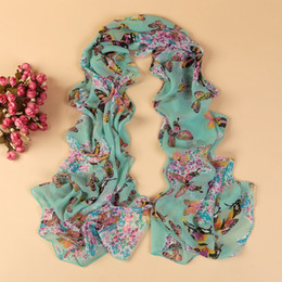 Wholesale Long Silk Scarves Wholesale - new fashion style butterfly Scarves women's scarf long shawl spring silk pashmina chiffon infinity scarf YN-168