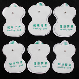 Wholesale Machine Healthy Digital - White Electrode Pads healthy pad For Tens Acupuncture Digital Therapy Machine Massager (2.5mm button type electrode pads) 100pcs lot