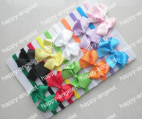 Wholesale Headbands Free Ems - 500 pcs free shipping by EMS Children baby skinny nylon headband with Grosgrain bows flower for girl hair accessories