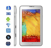 7 polegadas Android 4.2 Tablet PC Dual Core Mtk6572 3G Telefone celular Dual Camera Capacitive Screen bluetooth 1080P HDMI