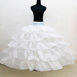 Wholesale Hoop Dresses For Sale - Hot Sale Ball Gown Wedding Petticoat Slip 4 Hoop 5 Layer Cheap Underskirt Crinoline For Wedding Dresses NO.187