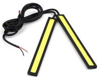 drl 17cm venda por atacado-Luzes de Circulação Diurna do carro LED DRL Universal COB 84 Chips de 9 W 12 V 17 CM poder Branco Azul Vermelho Car Auto Condução Ultra-fino Lâmpada de luz de Nevoeiro